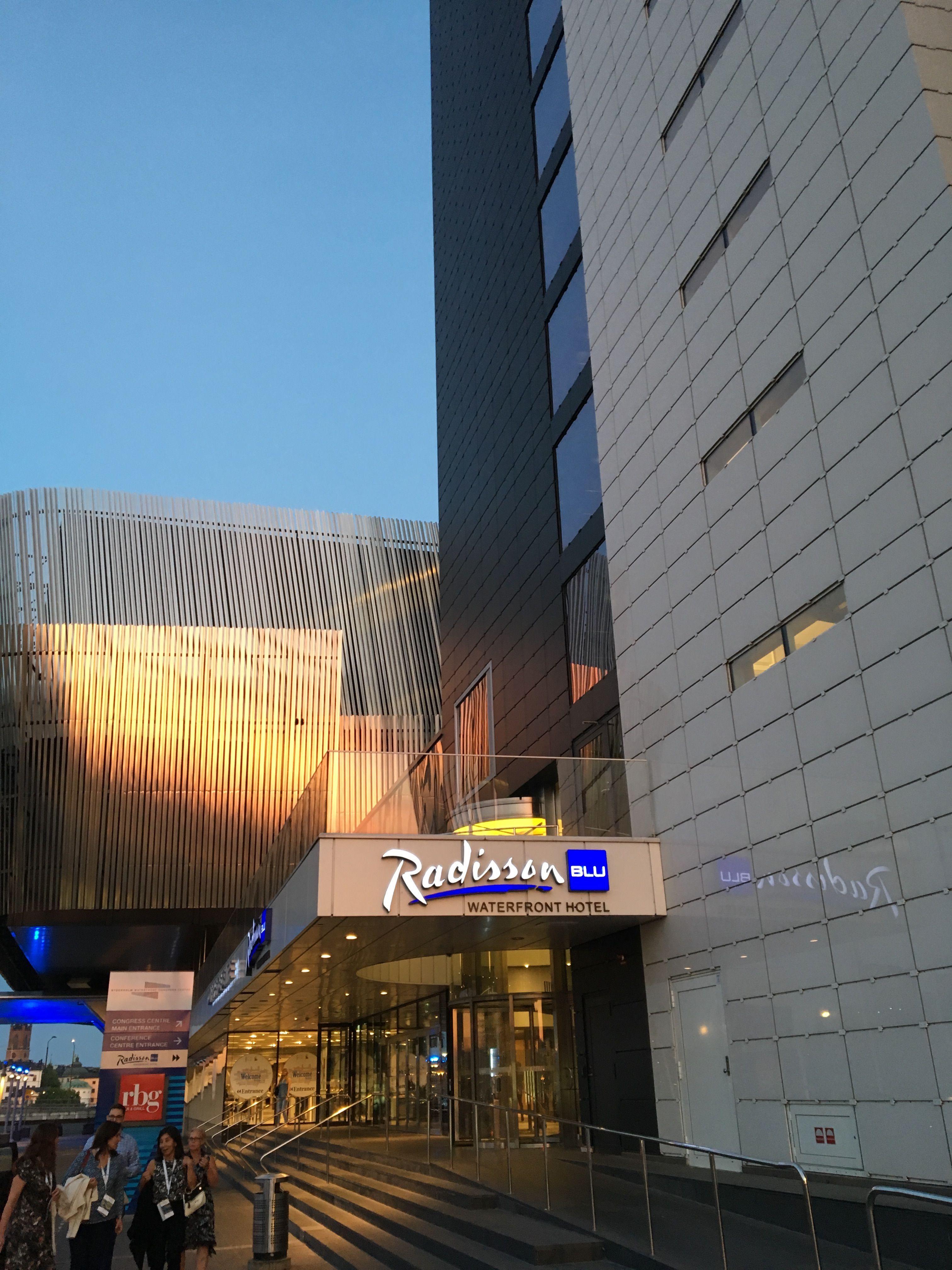 Kongresové centrum v Stockholmu (Radisson Waterfront Hotel)