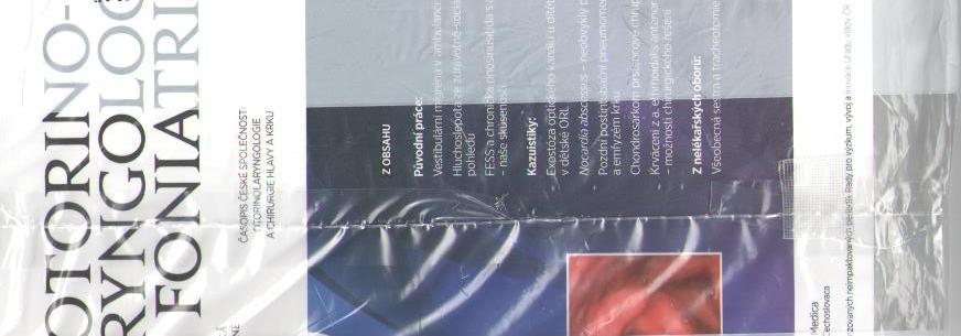 Časopis Otorinolaryngologie a Foniatrie elektronicky