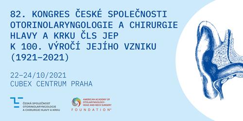82.kongres České společnosti otorinolaryngologie achirurgie hlavy akrku ČLS JEP k100.výročí jejího vzniku (1921-2021)